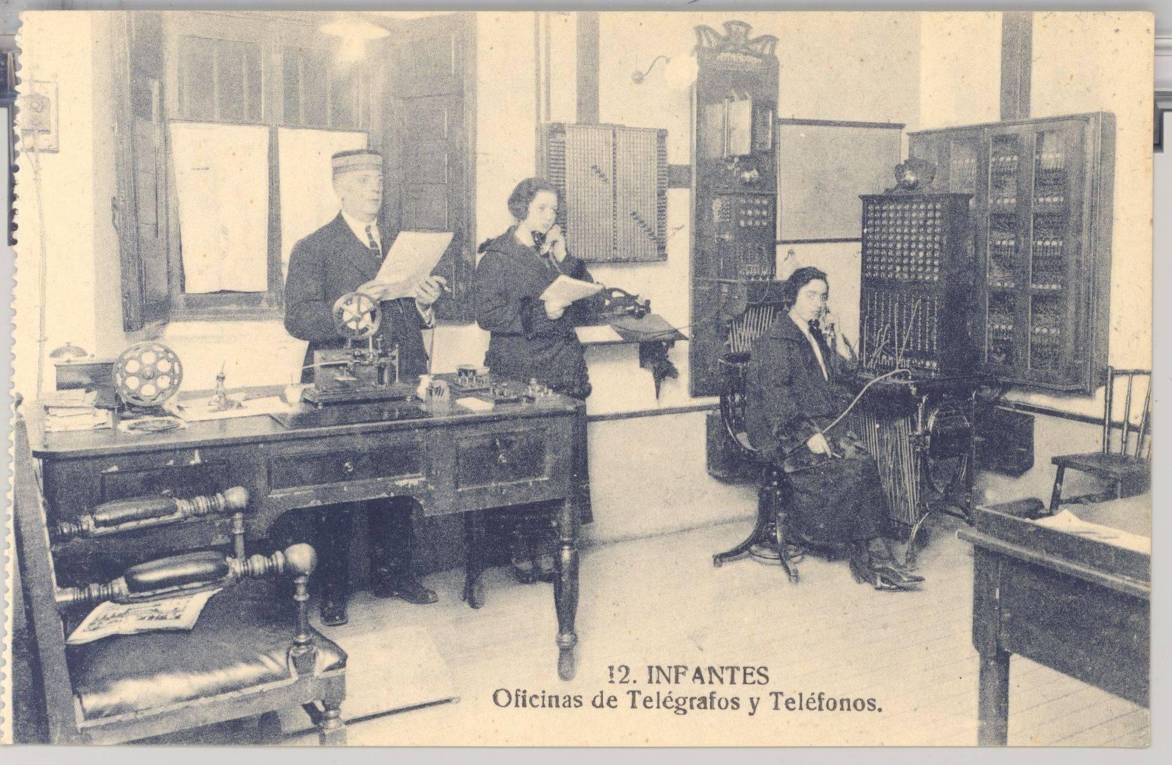Infantes Oficinas de telegrafos y telefonos - Herencia contó con el primer servicio telefónico de Ciudad Real en 1892