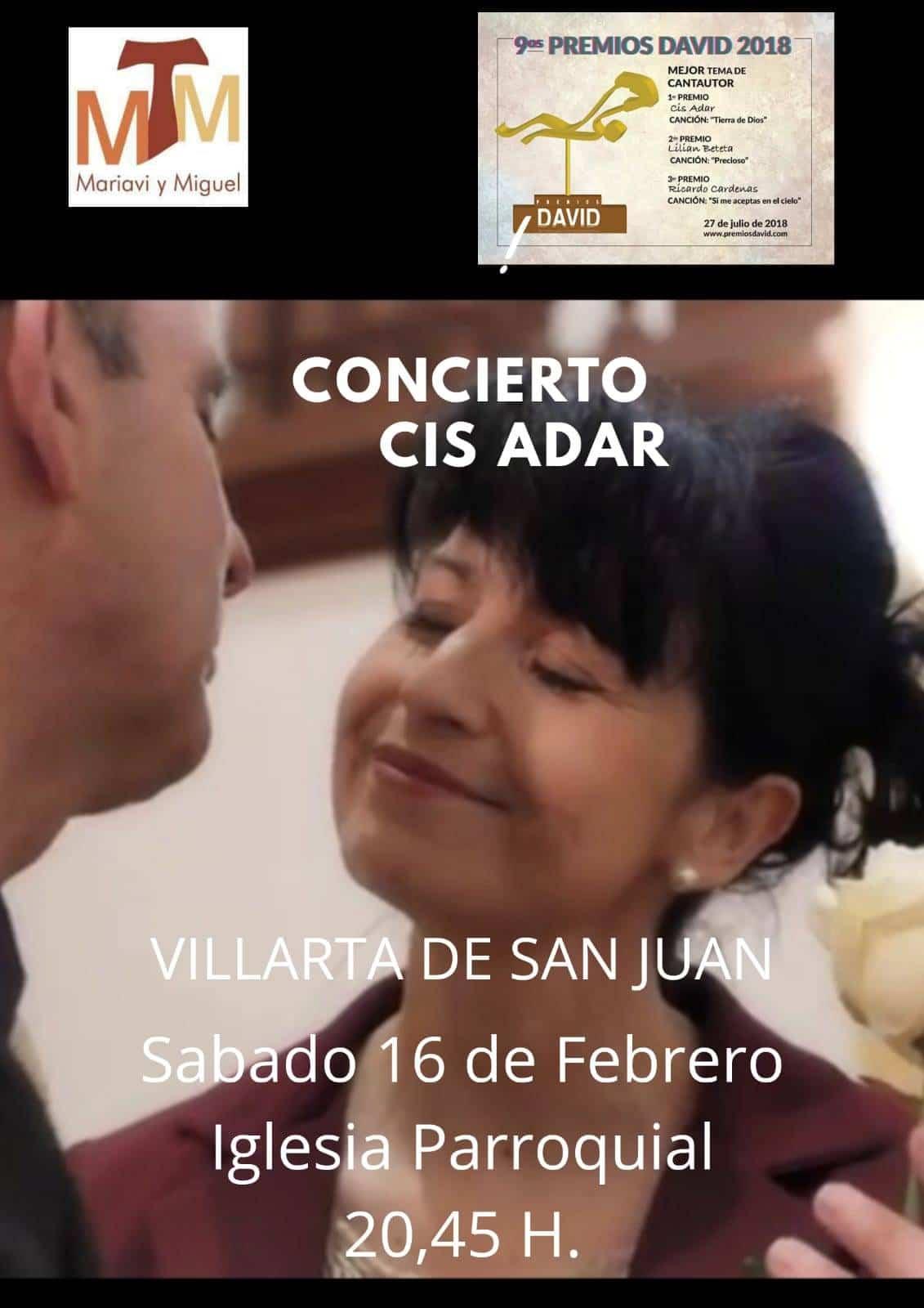 Miguel y Mariavi Cis Adar - Miguel y Mariavi ofrecerán un recital de su último disco en Villarta de San Juan