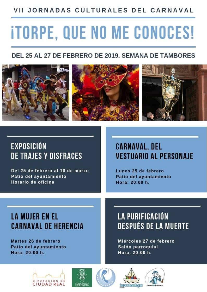 VII Jornadas culturales de carnaval de herencia - Programación del Carnaval de Herencia 2019, Fiesta de Interés Turístico Nacional