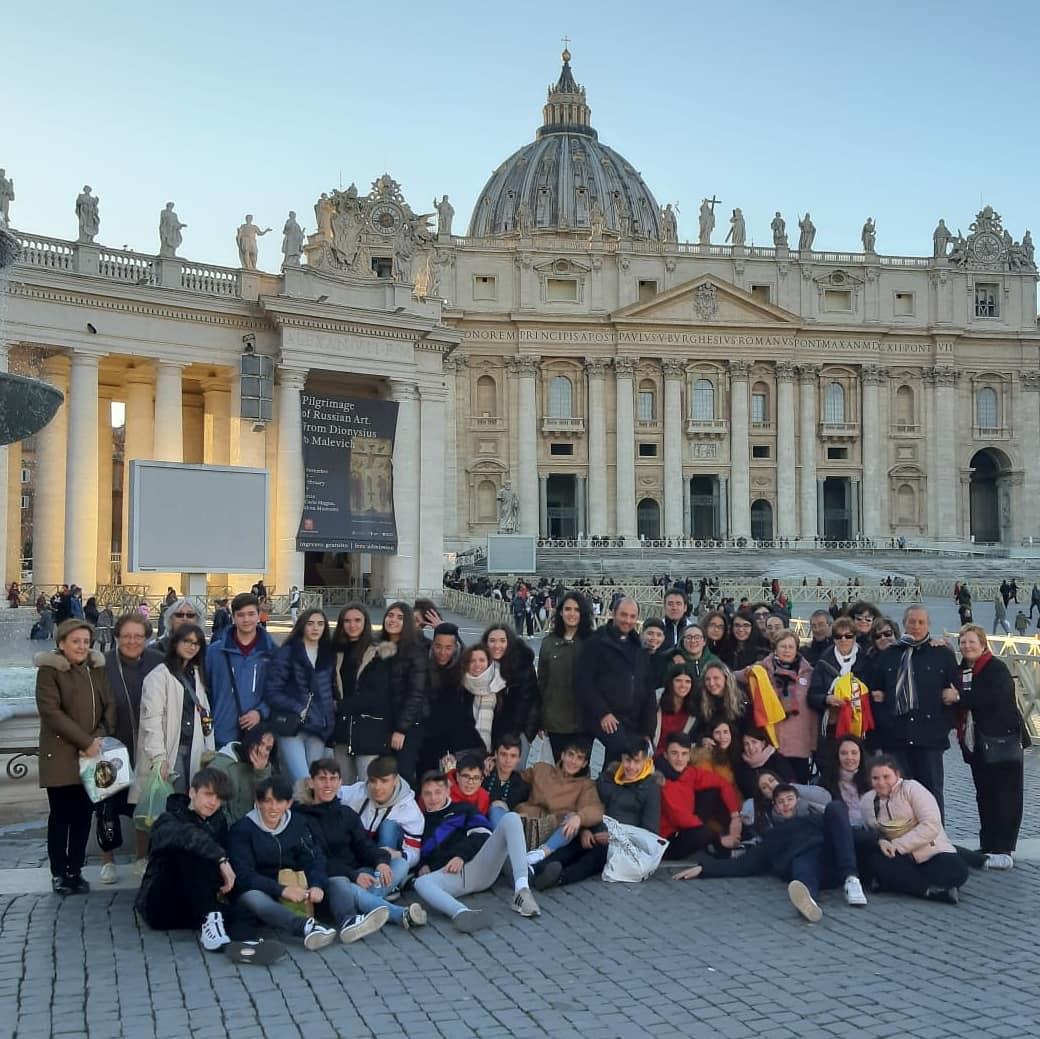 Viaje a Roma del departamento de religión del IES Hermógenes Rodríguez de Herencia17 - Alumnos y alumnas de religión del IES Hermógenes Rodríguez viajan a Roma