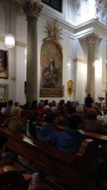 Visita al oratorio del Caballero de Gracia de Madrid1 156x277 - La parroquia de Herencia visita el Oratorio del Caballero de Gracia y 33 El Musical