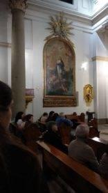 Visita al oratorio del Caballero de Gracia de Madrid2 156x277 - La parroquia de Herencia visita el Oratorio del Caballero de Gracia y 33 El Musical