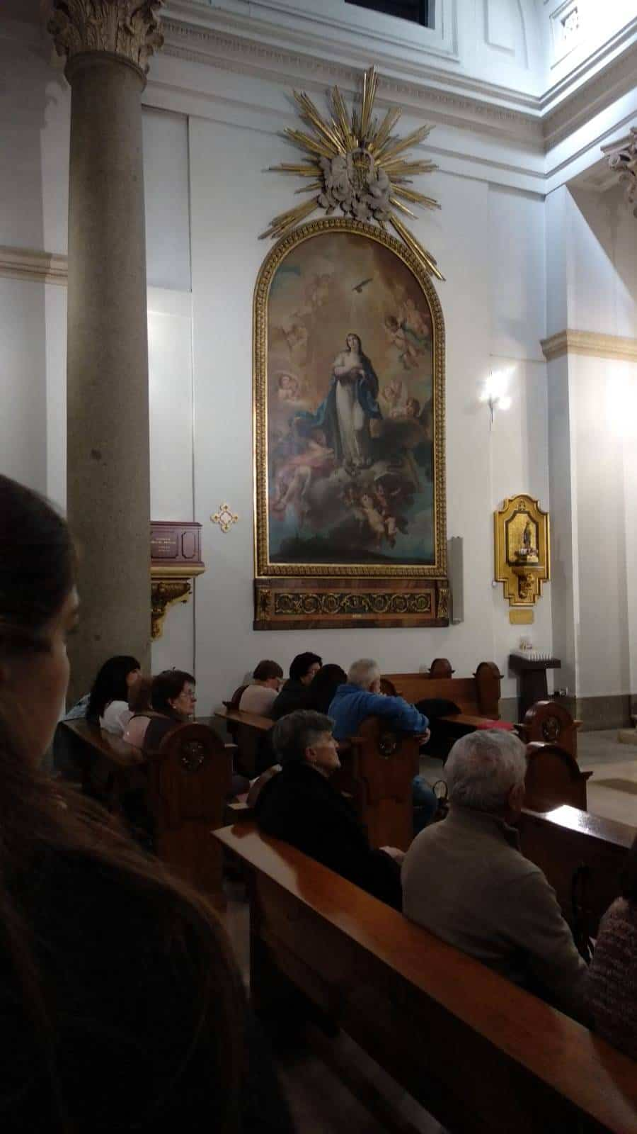 Visita al oratorio del Caballero de Gracia de Madrid2 - La parroquia de Herencia visita el Oratorio del Caballero de Gracia y 33 El Musical