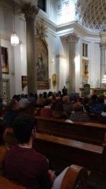 Visita al oratorio del Caballero de Gracia de Madrid3 156x277 - La parroquia de Herencia visita el Oratorio del Caballero de Gracia y 33 El Musical