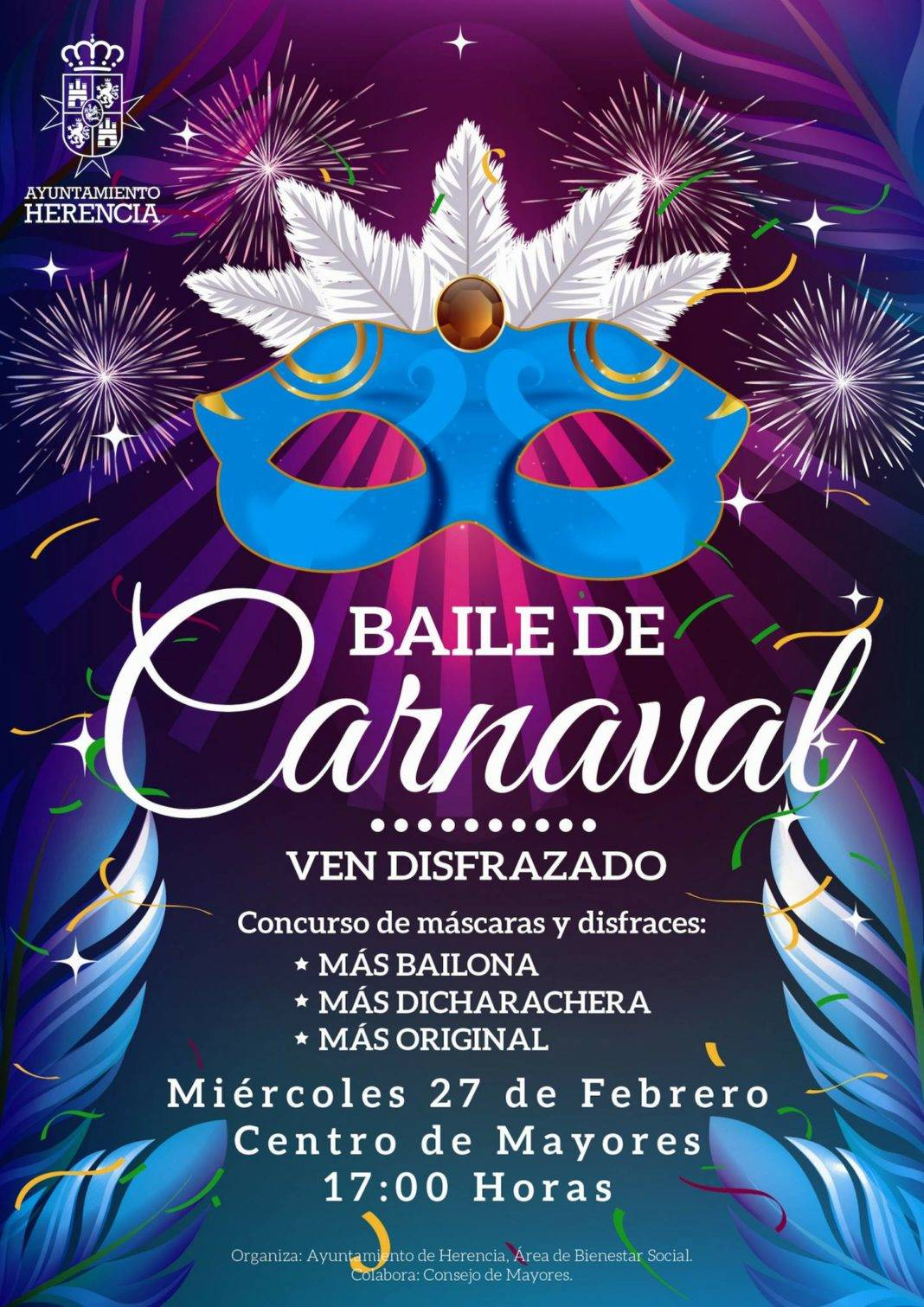 Baile de Carnaval en el Centro de Mayores de Herencia 4