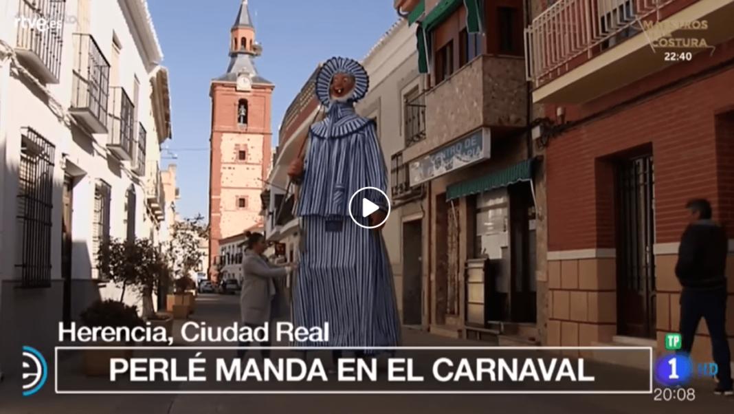 carnaval de herencia mariano perle en tve 1068x602 - El Carnaval de Herencia otra vez protagonista de TVE en España Directo
