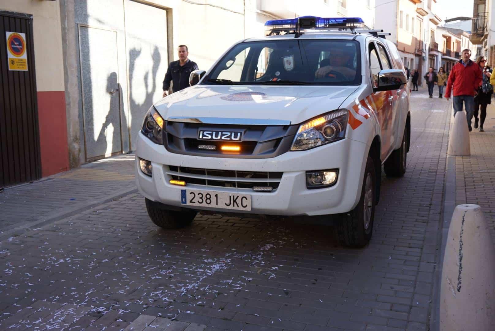 coche proteccion civil - Preventivo de Protección Civil en el Domingo de las Deseosas