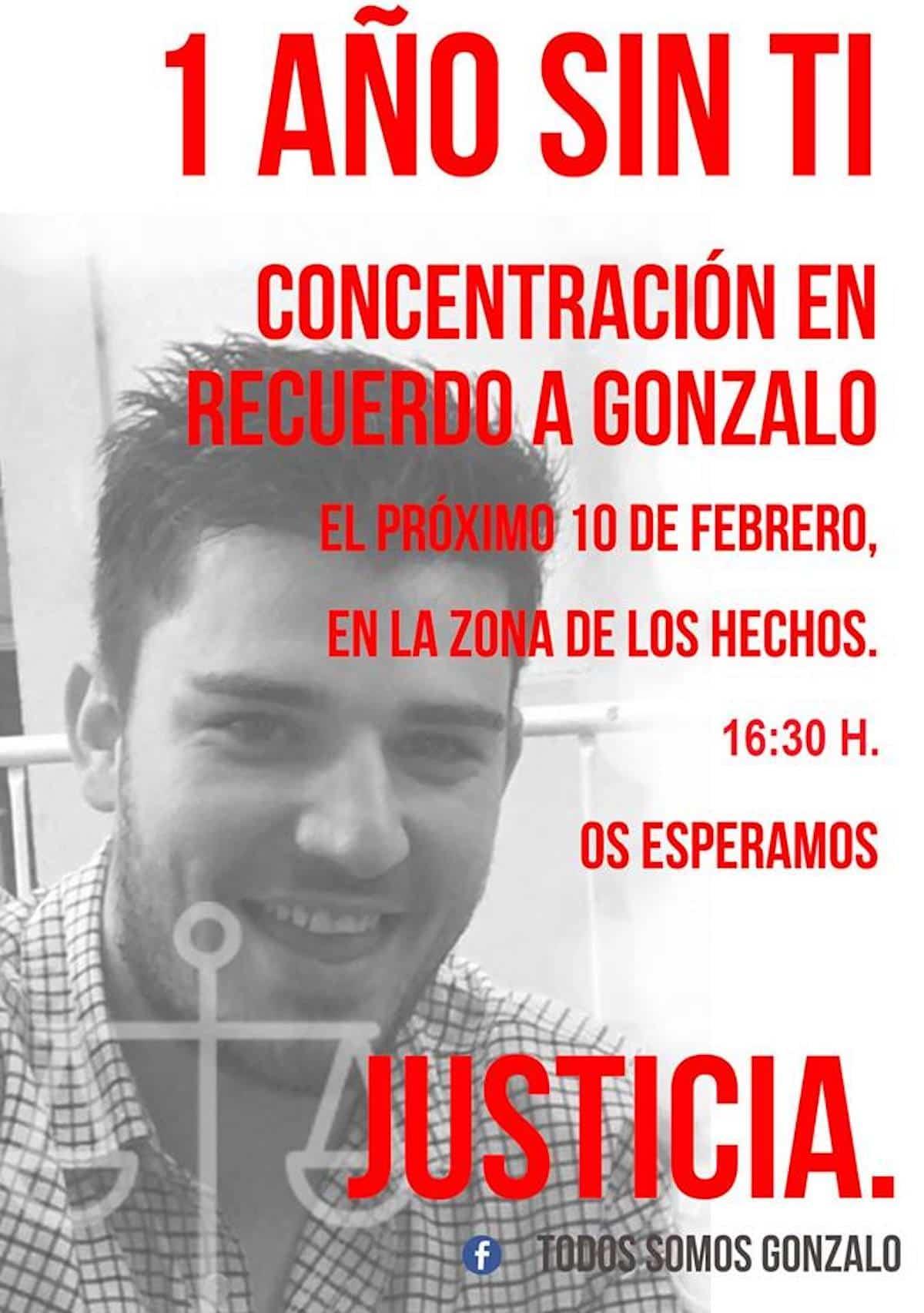 Concentración en recuerdo de Gonzalo en Herencia. 1 año sin tí