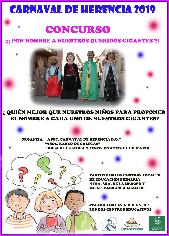 """Concurso """"Pon nombre a nuestros queridos Gigantes"""" del Carnaval de Herencia 1"""