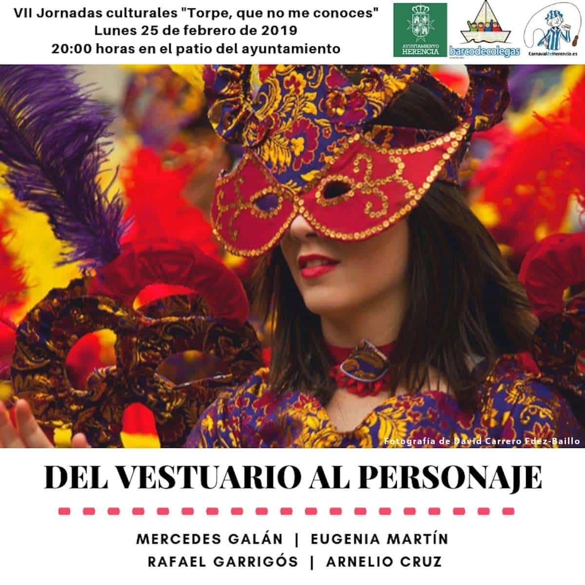 """del vestuario al personaje carnaval de herencia - """"Del vestuario al personaje"""" en las Jornadas Culturales del Carnaval de Herencia"""