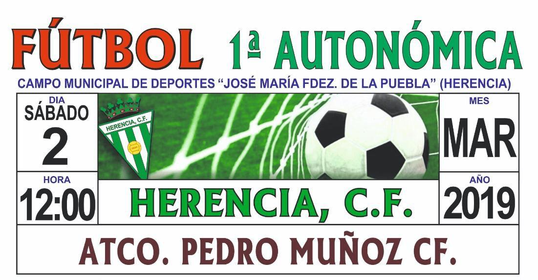 Herencia CF contra el Atlético Pedro Muñoz CF el sábado de Carnaval 1