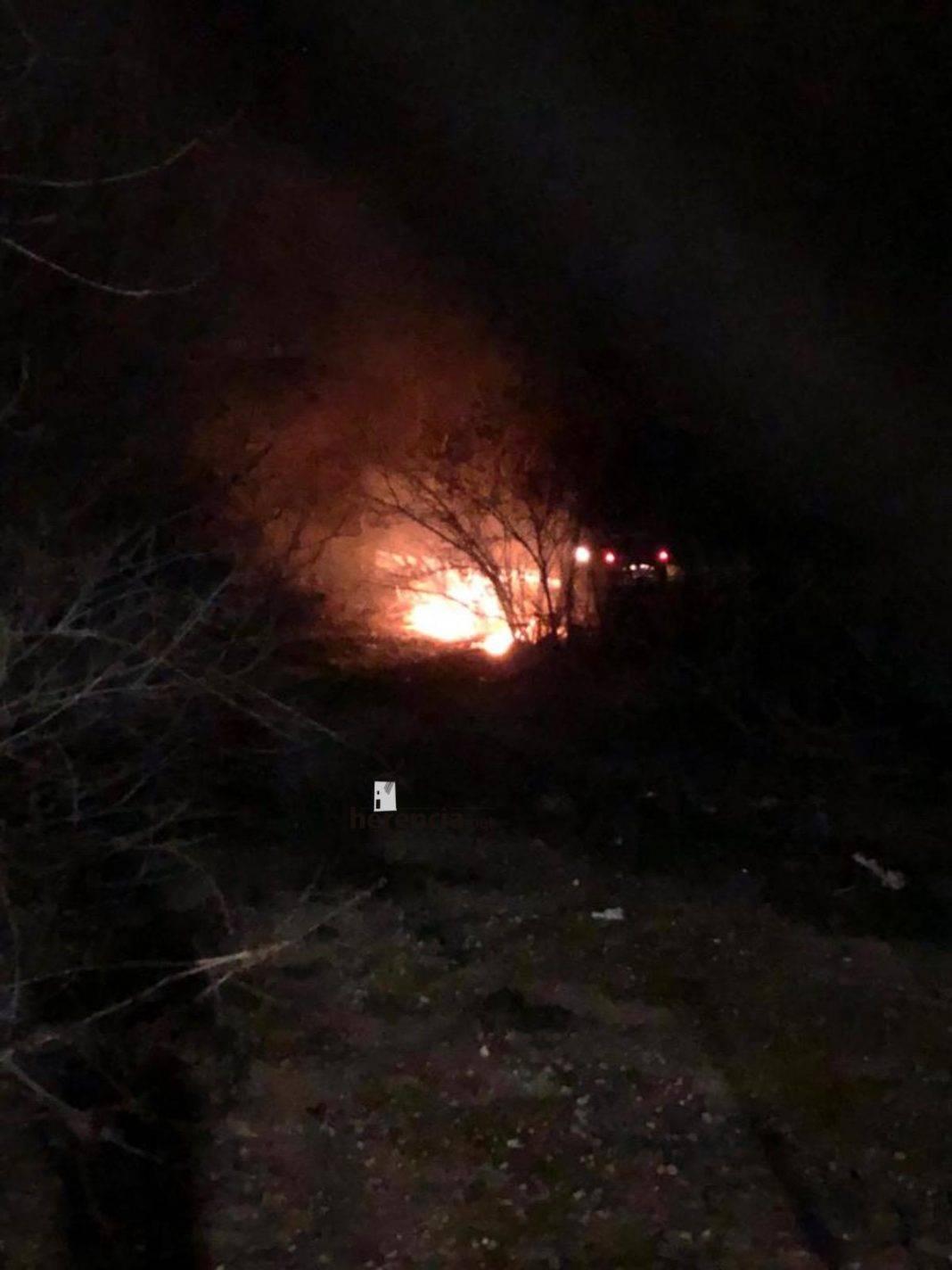 Incendio por la zona de la antigua granja de pollos en Herencia 7