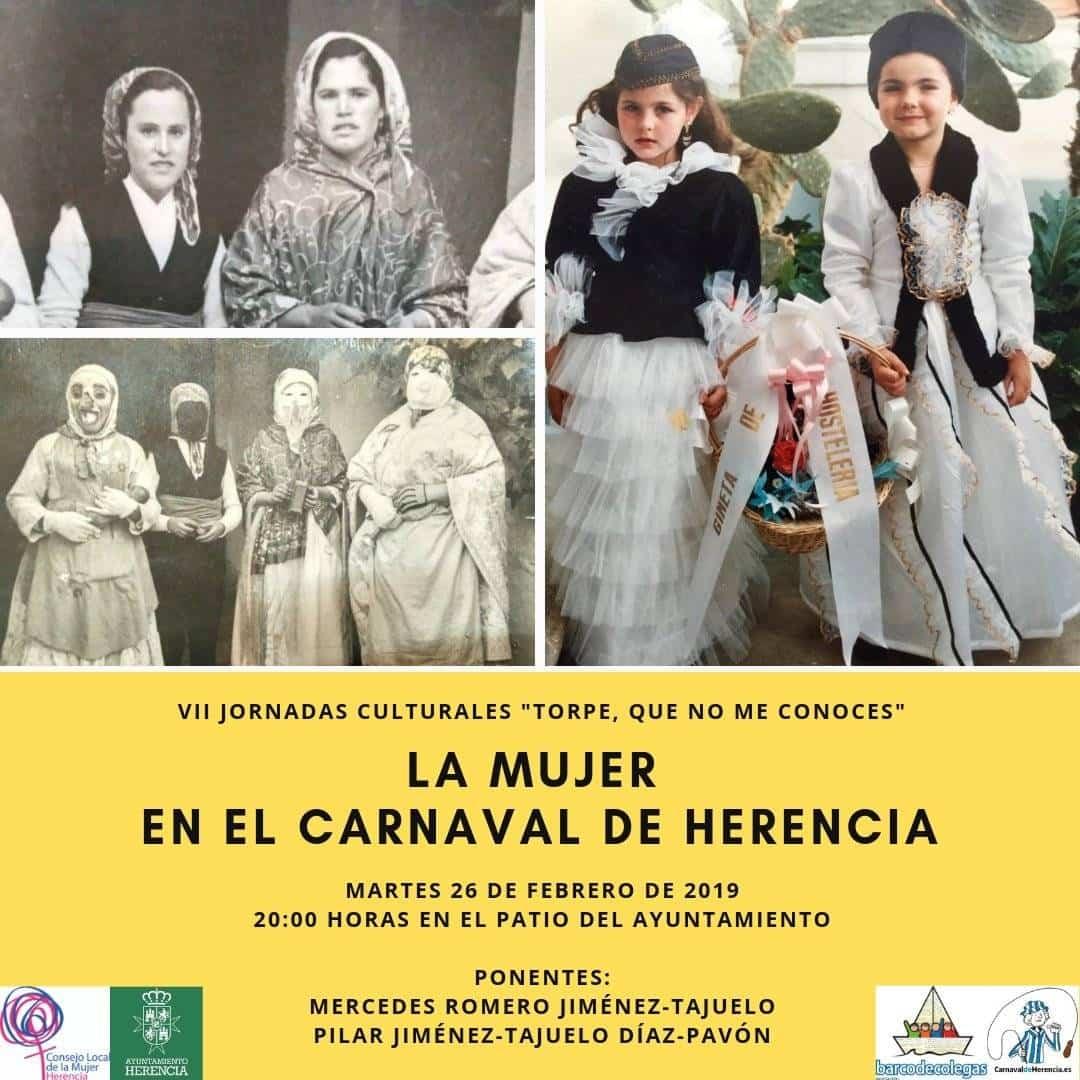 """la mujer en el carnaval de herencia 2019 jornadas culturales - """"La Mujer en el Carnaval de Herencia"""" dentro de las Jornadas Culturales"""