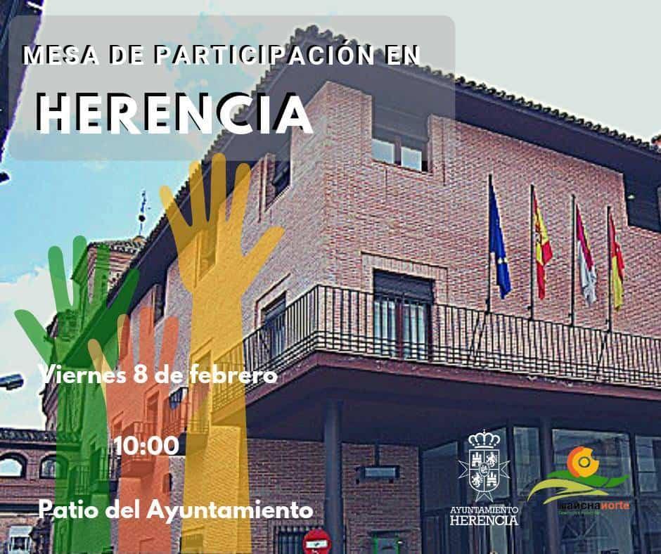 mesa de participacion mancha norte herencia - Mancha Norte organiza una mesa de participación en Herencia