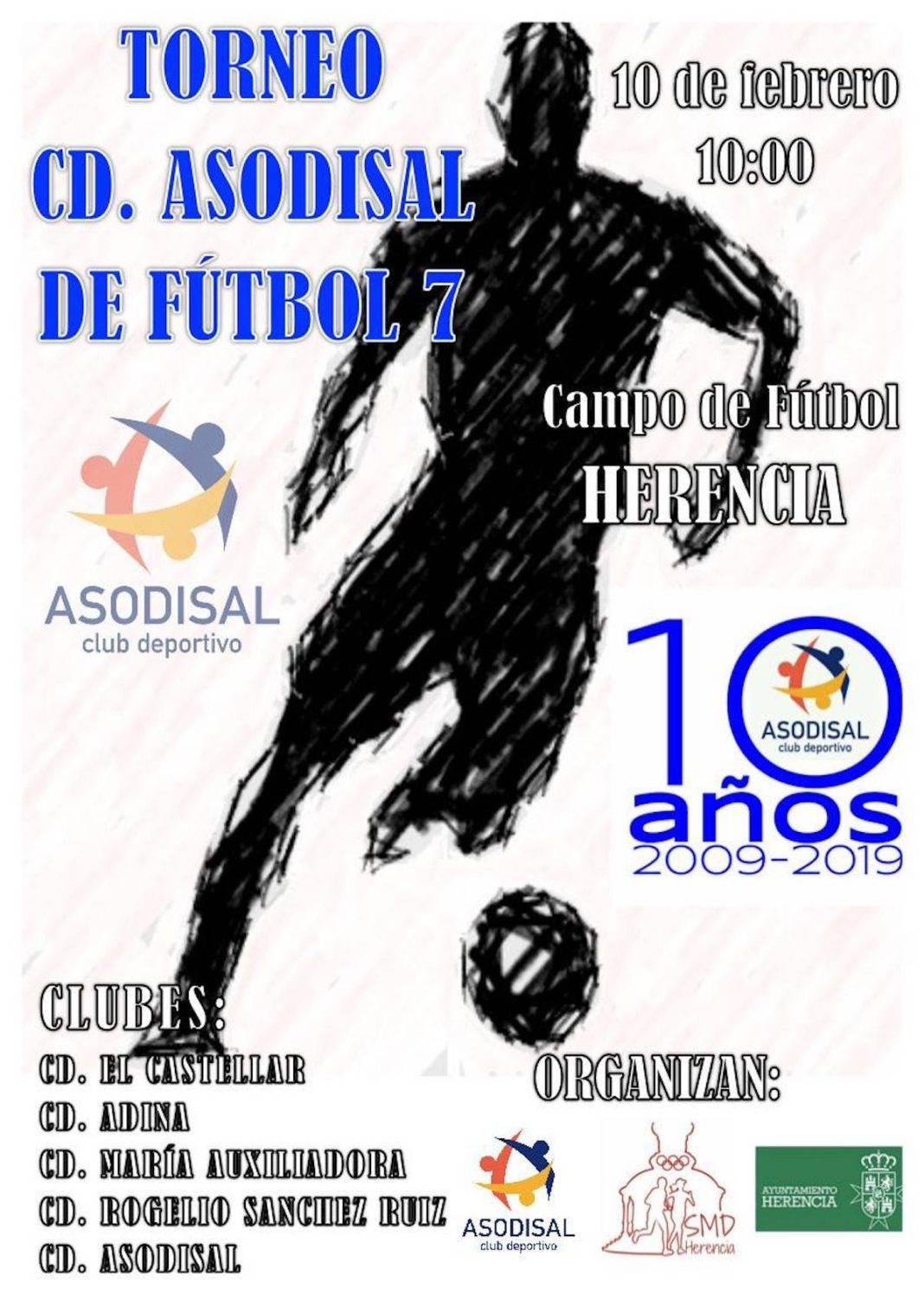 torneo futbol 7 inclusivo herencia 1068x1511 - Torneo de fútbol 7 en Herencia organizado por CD. Asodisal