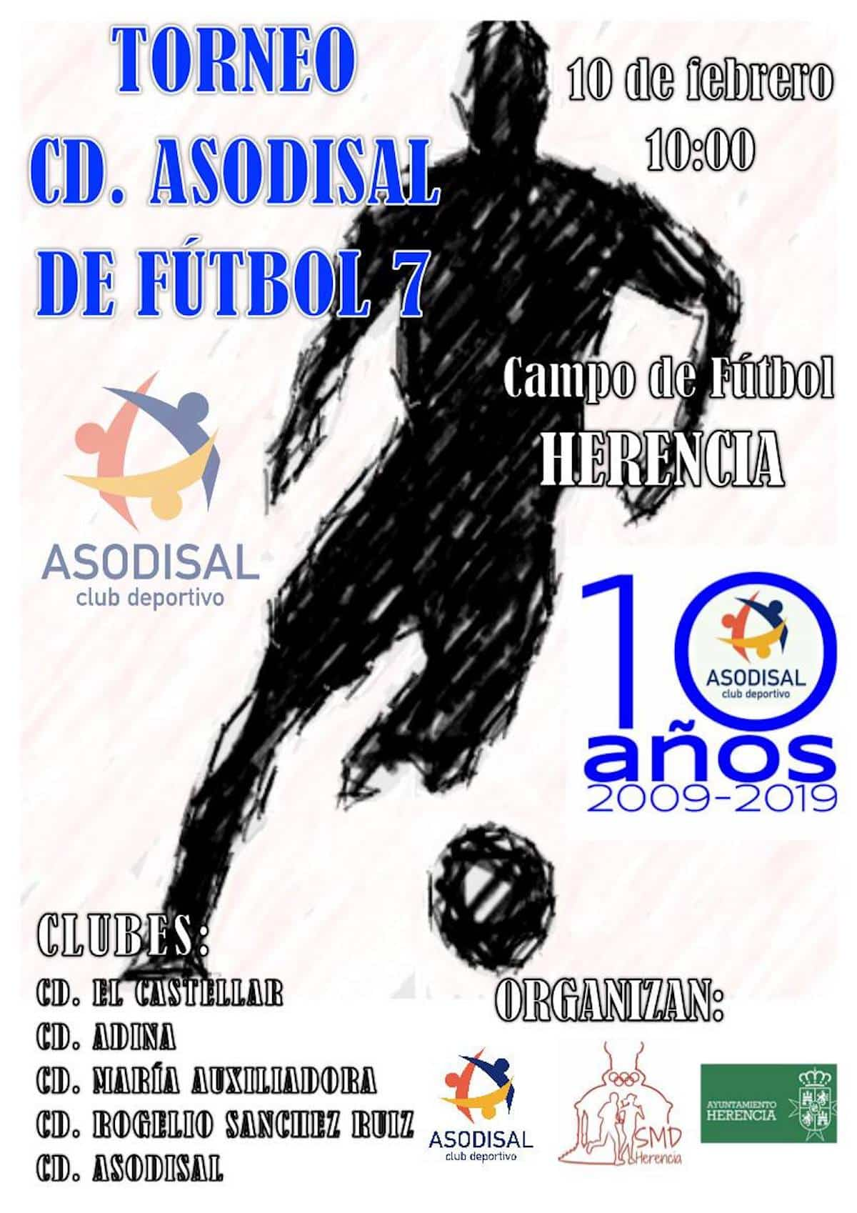 Torneo de fútbol 7 en Herencia organizado por CD. Asodisal 3
