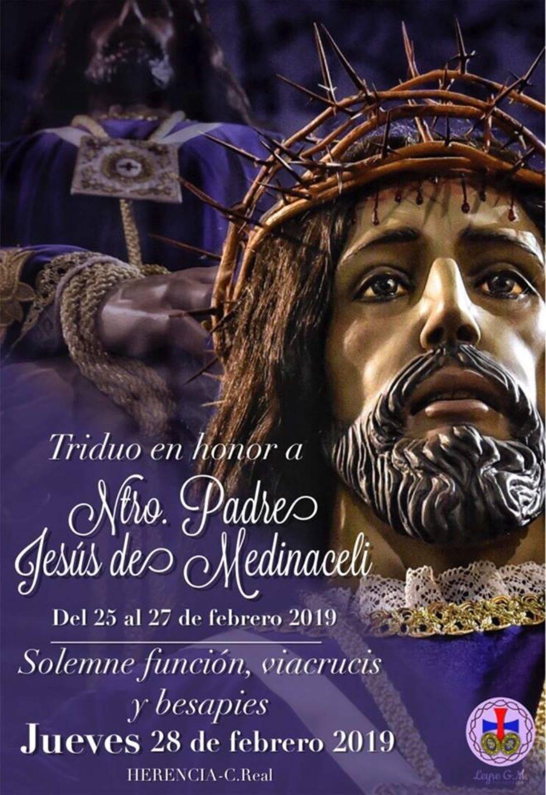 triduo y via crucis Jesús de Medinaceli 1068x1556 - El vía crucis de Jesús de Medinaceli este año será el jueves 28 de febrero