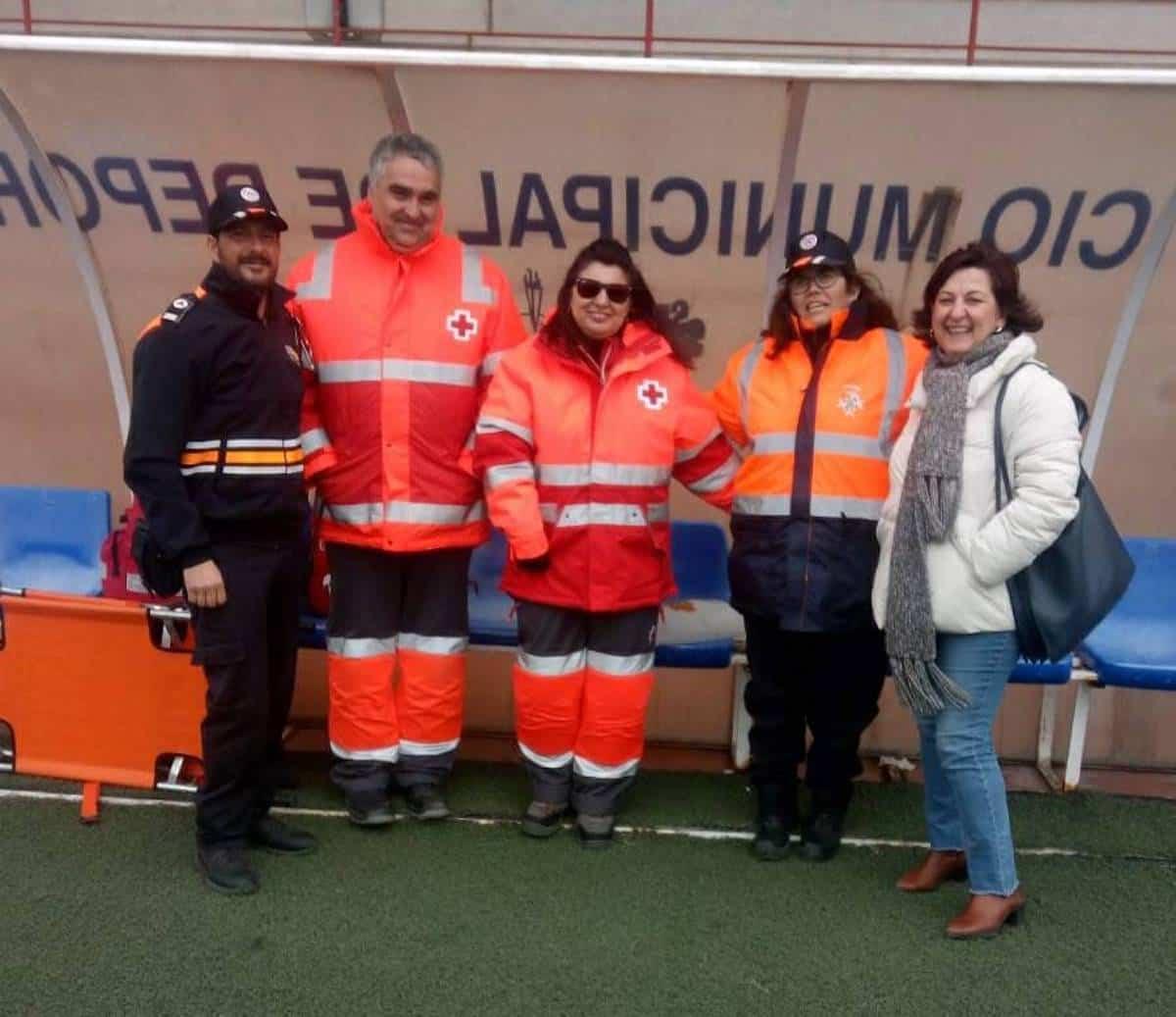voluntarios proteccion civil cruz roja asodisal - Finalizó el campeonato de Fútbol 7 inclusivo en Herencia