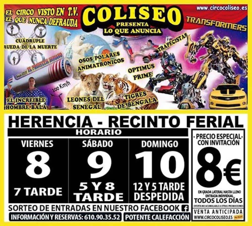 El Circo Coliseo llega a Herencia después de Carnaval