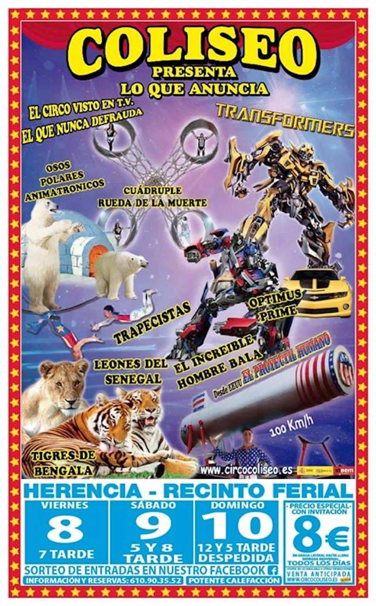 circo coliseo herencia 2 - El Circo Coliseo llega a Herencia después de Carnaval