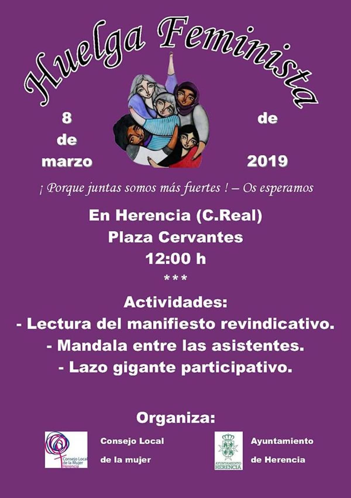 huelga feminista herencia 2019 - Huelga Feminista el 8 de marzo en Herencia
