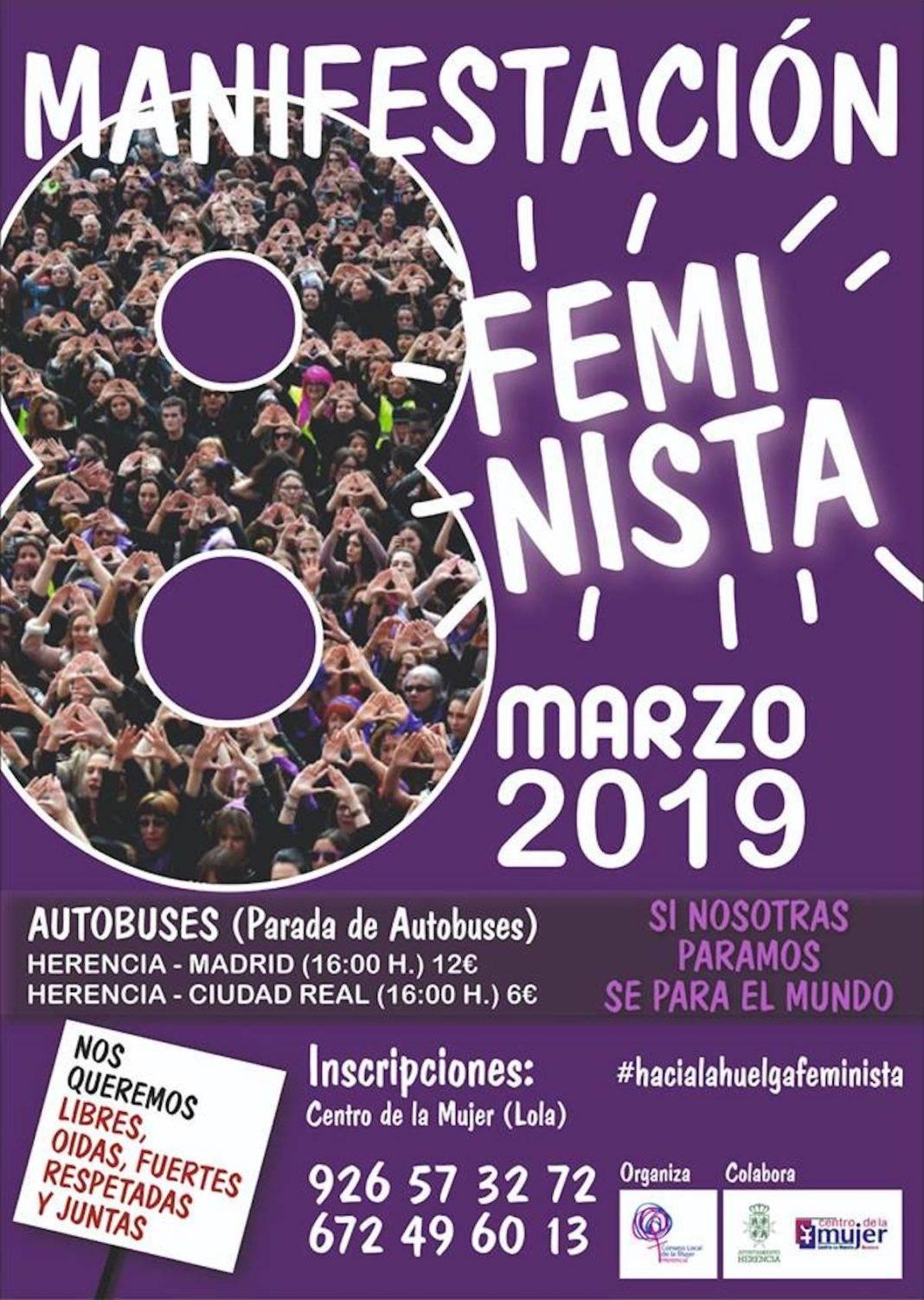 manifestacion feminista madrid 1068x1503 - Huelga Feminista el 8 de marzo en Herencia