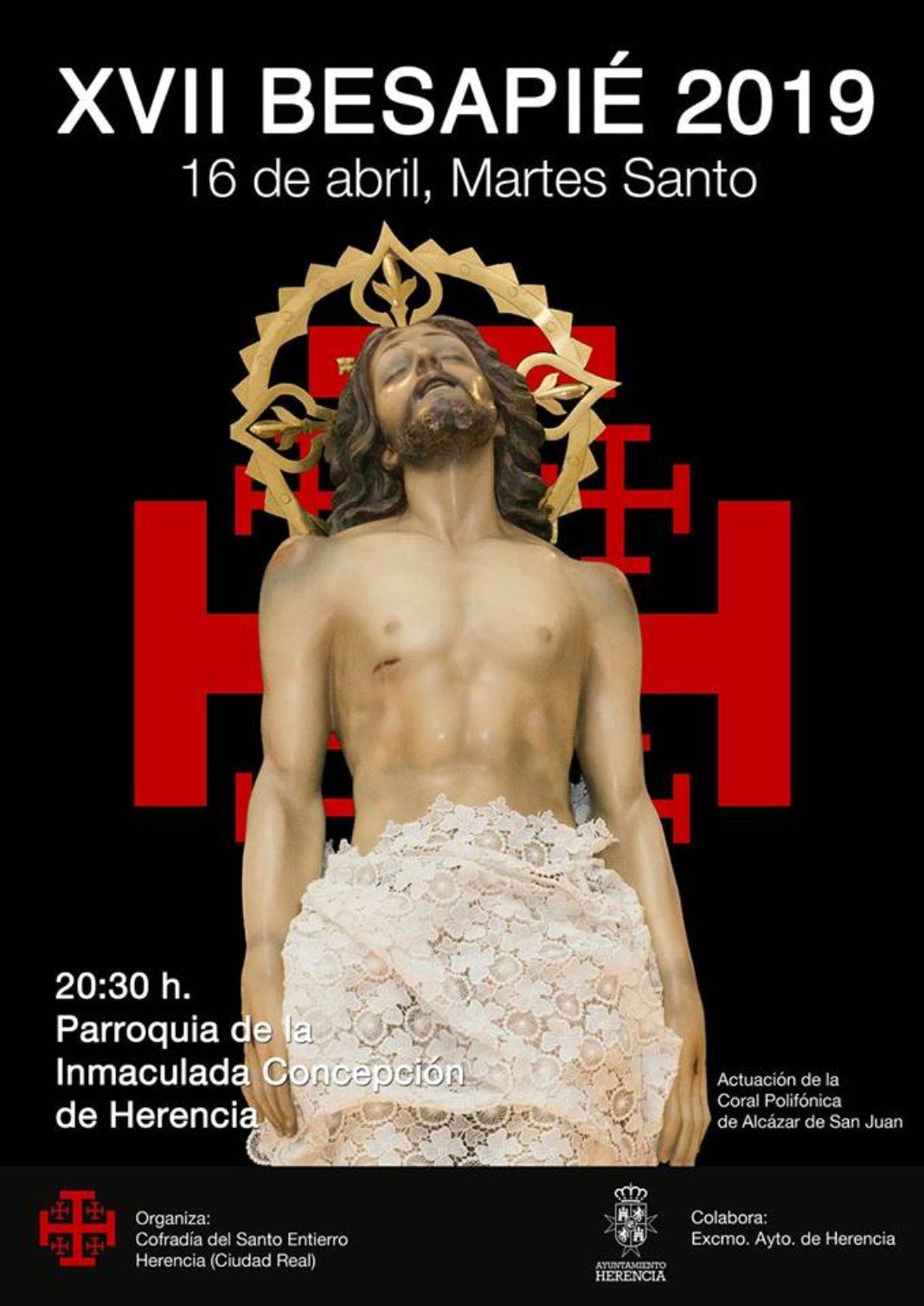 Acto cofrade del Santo Entierro de Herencia 1068x1510 - Décimo séptimo acto cofrade y besapie del Cristo Yacente