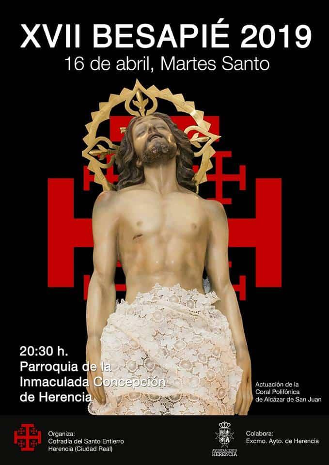 Acto cofrade del Santo Entierro de Herencia - Décimo séptimo acto cofrade y besapie del Cristo Yacente