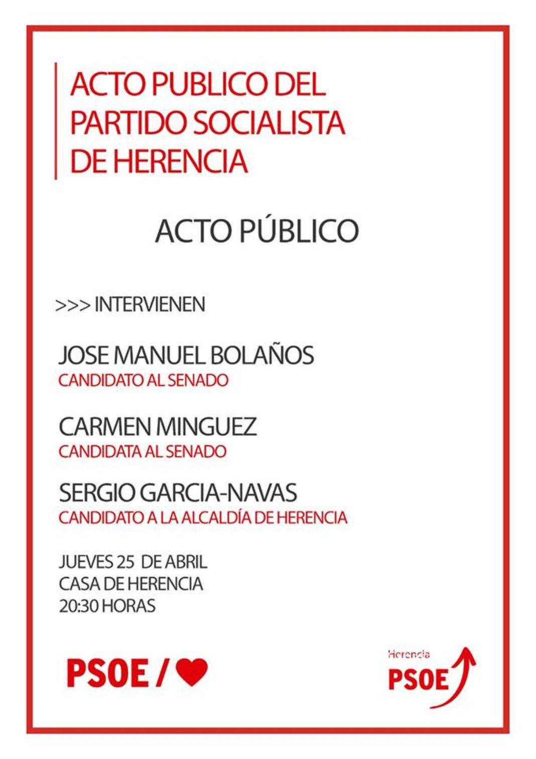 Acto público del PSOE en la Casa de Herencia 4