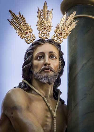 CRISTO DE LA COLUMNA - La imaginería de la Semana Santa en Herencia