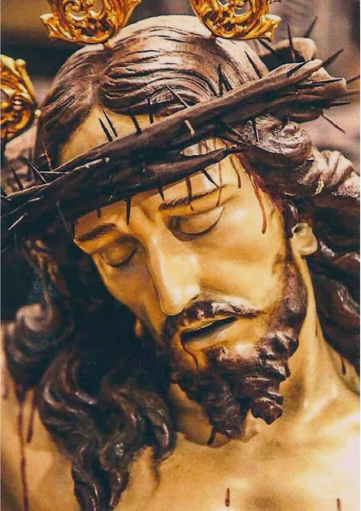CRISTO DE LOS AFLIGIDOS 707x1000 - La imaginería de la Semana Santa en Herencia