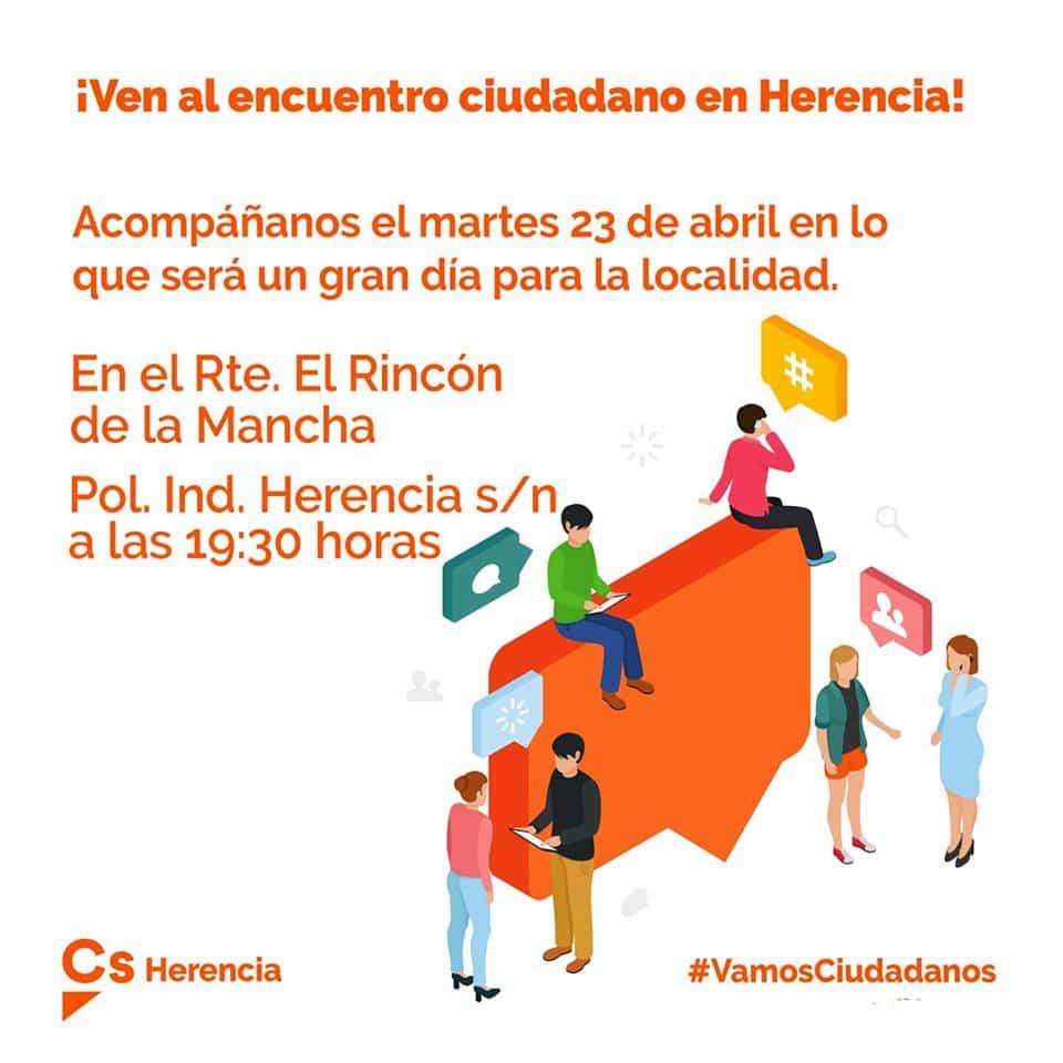 Candidatura a la alcaldia de Ciudadanos Herencia - Jesús Fernández Almoguera será el candidato de Ciudadanos a la alcaldía de Herencia
