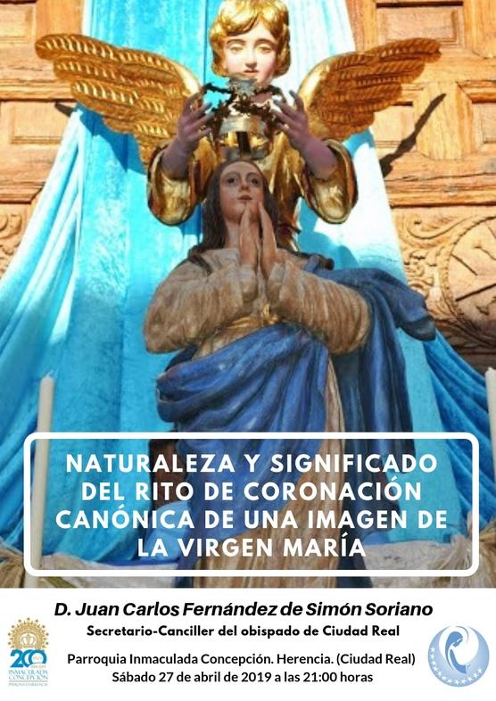 Conferencia coronación de la Virgen - El secretario-canciller del obispado dará una conferencia sobre la coronación canónica de una imagen de la Virgen María