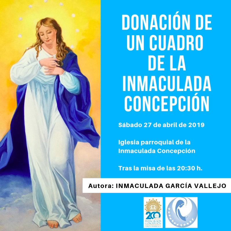 Inmaculada García Vallejo dona un cuadro de la Inmaculada Concepción a la parroquia de Herencia 3