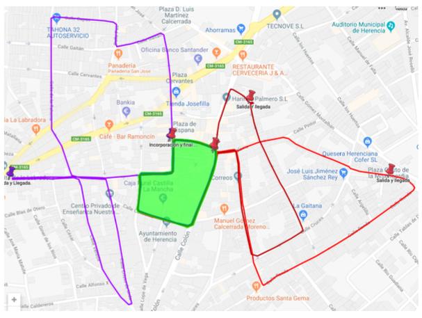 Itinerario Procesi%C3%B3n de la Pasi%C3%B3n de Herencia - Recorridos y horarios de la procesión de la Pasión