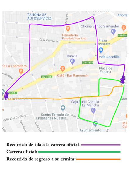 Itinerario de Los Moraos Procesión de los 7 Santos - Recorrido y horarios de la procesión de los 7 Santos