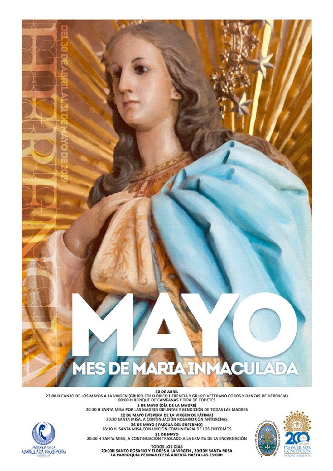 Mes de Mayo en la parroquia 1068x1511 - La Virgen de la Inmaculada será la protagonista durante el mes de mayo en la parroquia
