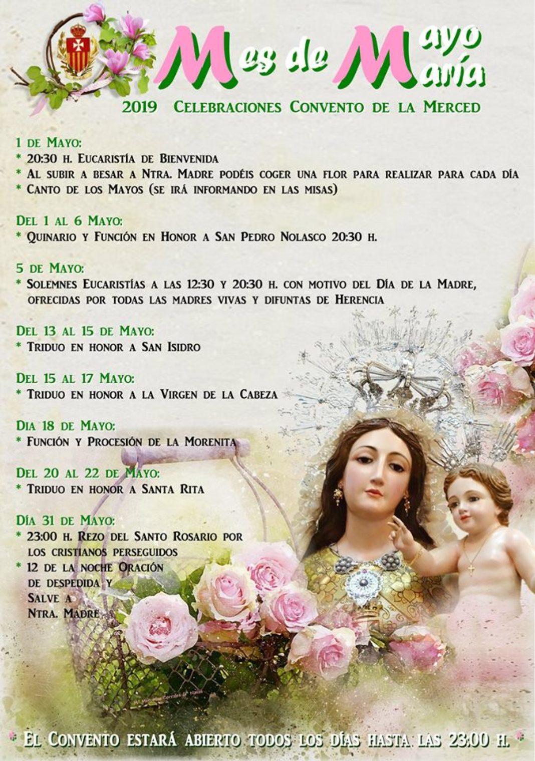 Mes de mayo en el convento de La Merced 1068x1519 - Celebraciones del mes de mayo en el convento de La Merced