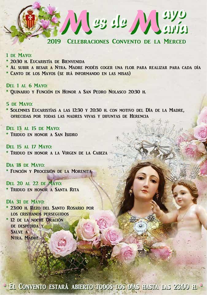 Mes de mayo en el convento de La Merced - Celebraciones del mes de mayo en el convento de La Merced