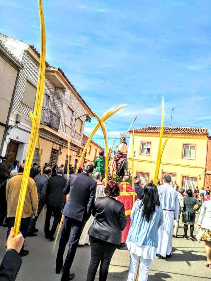 Procesion de la Borriquilla del Domingo de Ramos en Herencia Foto Facebook Parroquia de Herencia01 1 - Buen tiempo y devoción, en la celebración del Domingo de Ramos