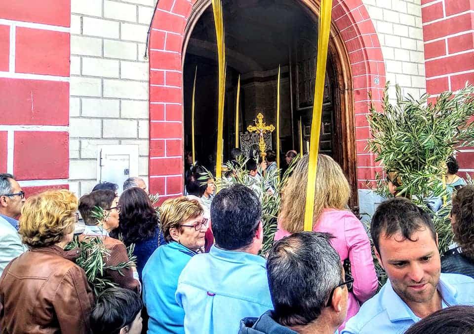 Procesion de la Borriquilla del Domingo de Ramos en Herencia Foto Facebook Parroquia de Herencia03 1 - Buen tiempo y devoción, en la celebración del Domingo de Ramos