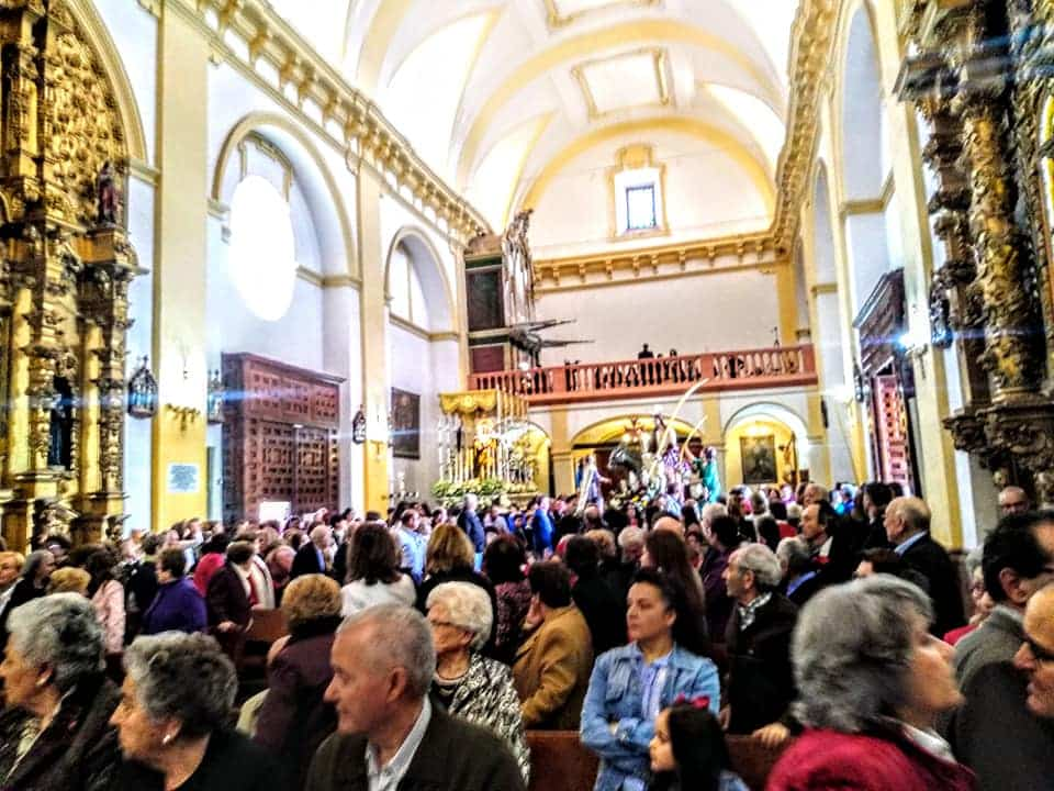 Procesion de la Borriquilla del Domingo de Ramos en Herencia Foto Facebook Parroquia de Herencia05 1 - Buen tiempo y devoción, en la celebración del Domingo de Ramos