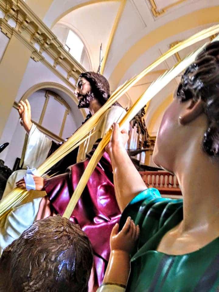Procesion de la Borriquilla del Domingo de Ramos en Herencia Foto Facebook Parroquia de Herencia06 1 - Buen tiempo y devoción, en la celebración del Domingo de Ramos