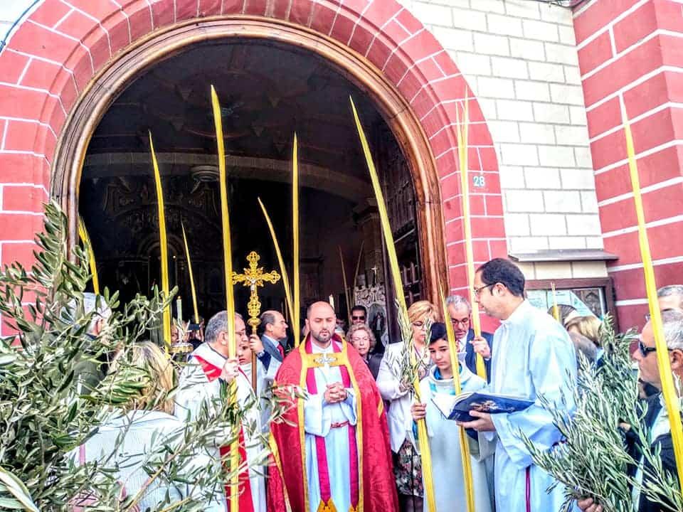 Procesion de la Borriquilla del Domingo de Ramos en Herencia Foto Facebook Parroquia de Herencia07 1 - Buen tiempo y devoción, en la celebración del Domingo de Ramos