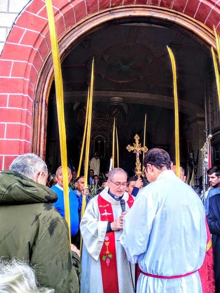 Procesion de la Borriquilla del Domingo de Ramos en Herencia Foto Facebook Parroquia de Herencia09 1 - Buen tiempo y devoción, en la celebración del Domingo de Ramos