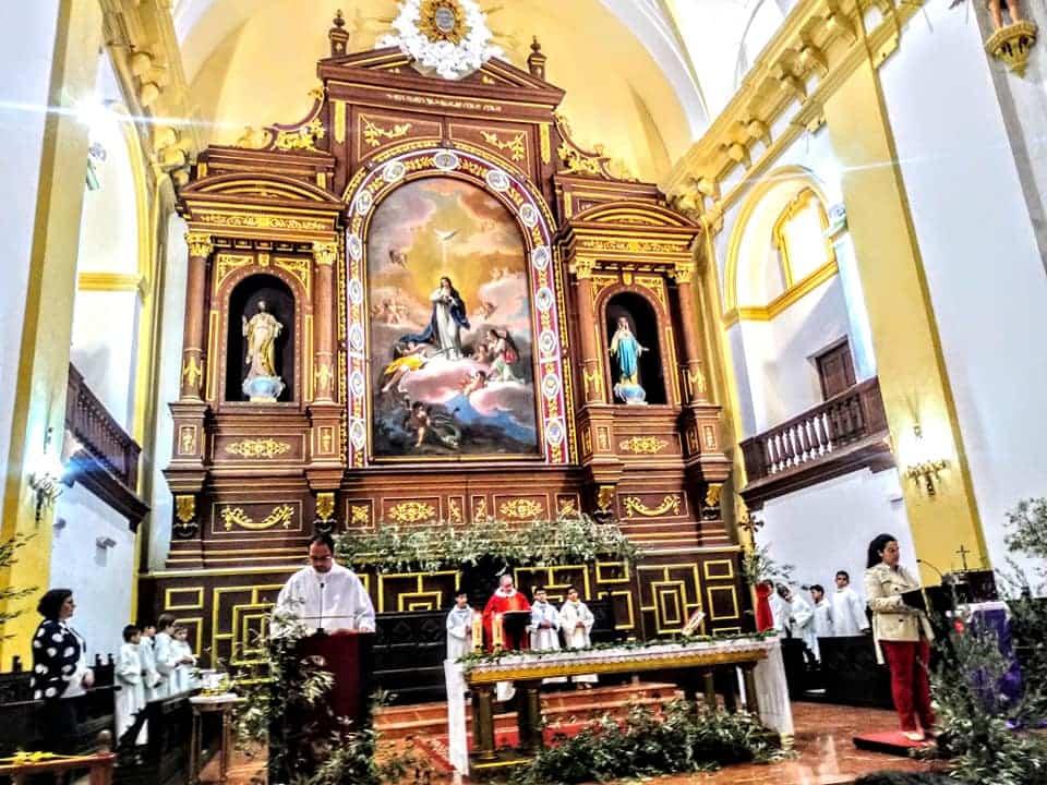 Procesion de la Borriquilla del Domingo de Ramos en Herencia Foto Facebook Parroquia de Herencia11 1 - Buen tiempo y devoción, en la celebración del Domingo de Ramos