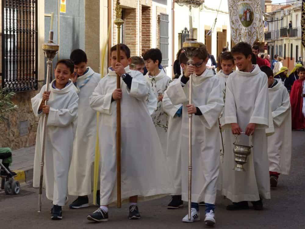 Buen tiempo y devoción, en la celebración del Domingo de Ramos 13