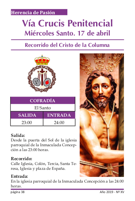 Vía crucis penitencial. Recorrido 1
