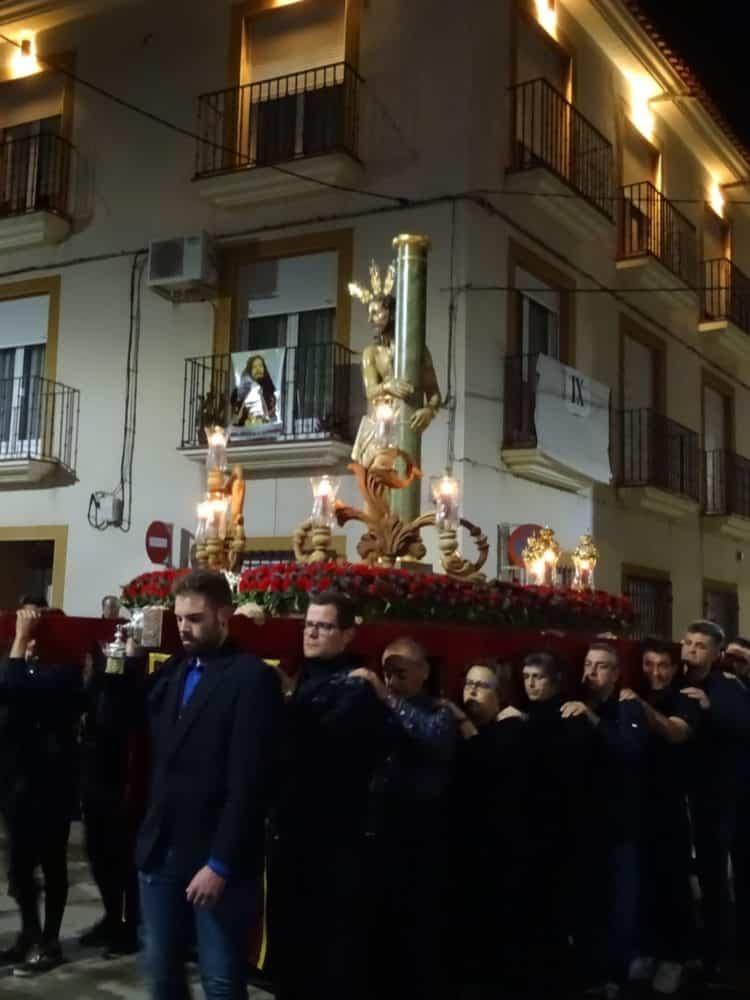 Via Crucis Penitencial con el Cristo de la Columna 750x1000 - Imágenes del Vía Crucis Penitencial del Miércoles Santo