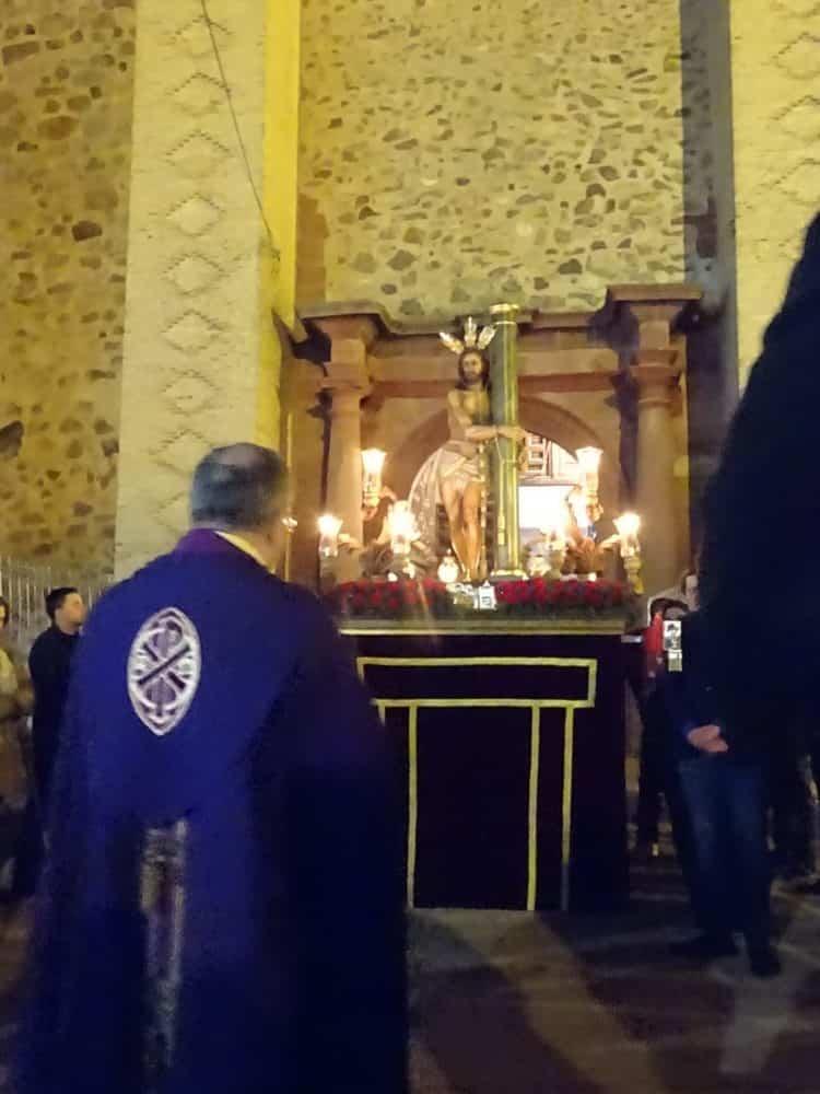 Via Crucis Penitencial con el Cristo de la Columna13 750x1000 - Imágenes del Vía Crucis Penitencial del Miércoles Santo